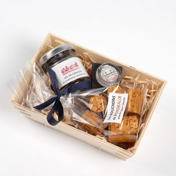 Coffret cadeau bouchons de Bordeaux et sel de vin