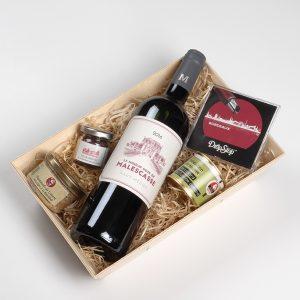 Coffret cadeau vin chateau Malescasse
