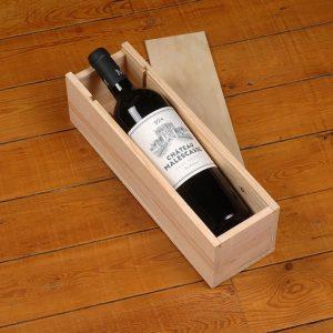 Coffret bois vin Bordeaux chateau maslescasse