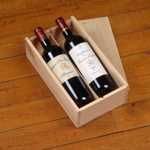 Coffret cadeau caisse bois Vin Bordeaux Margaux