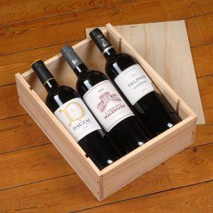 Coffret cadeau 3 bouteilles de Bordeaux