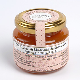 confiture artisanale de Bordeaux orange citrouille