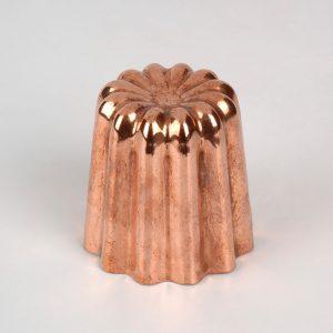 Moule à canelé en cuivre taille moyenne 45 mm
