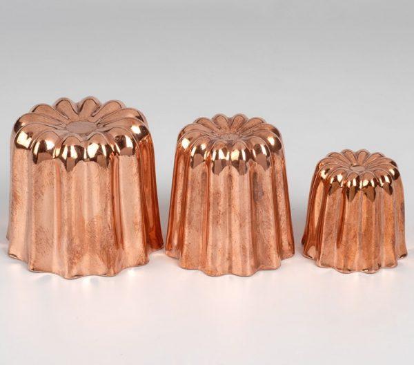 Moules à canelés en cuivre